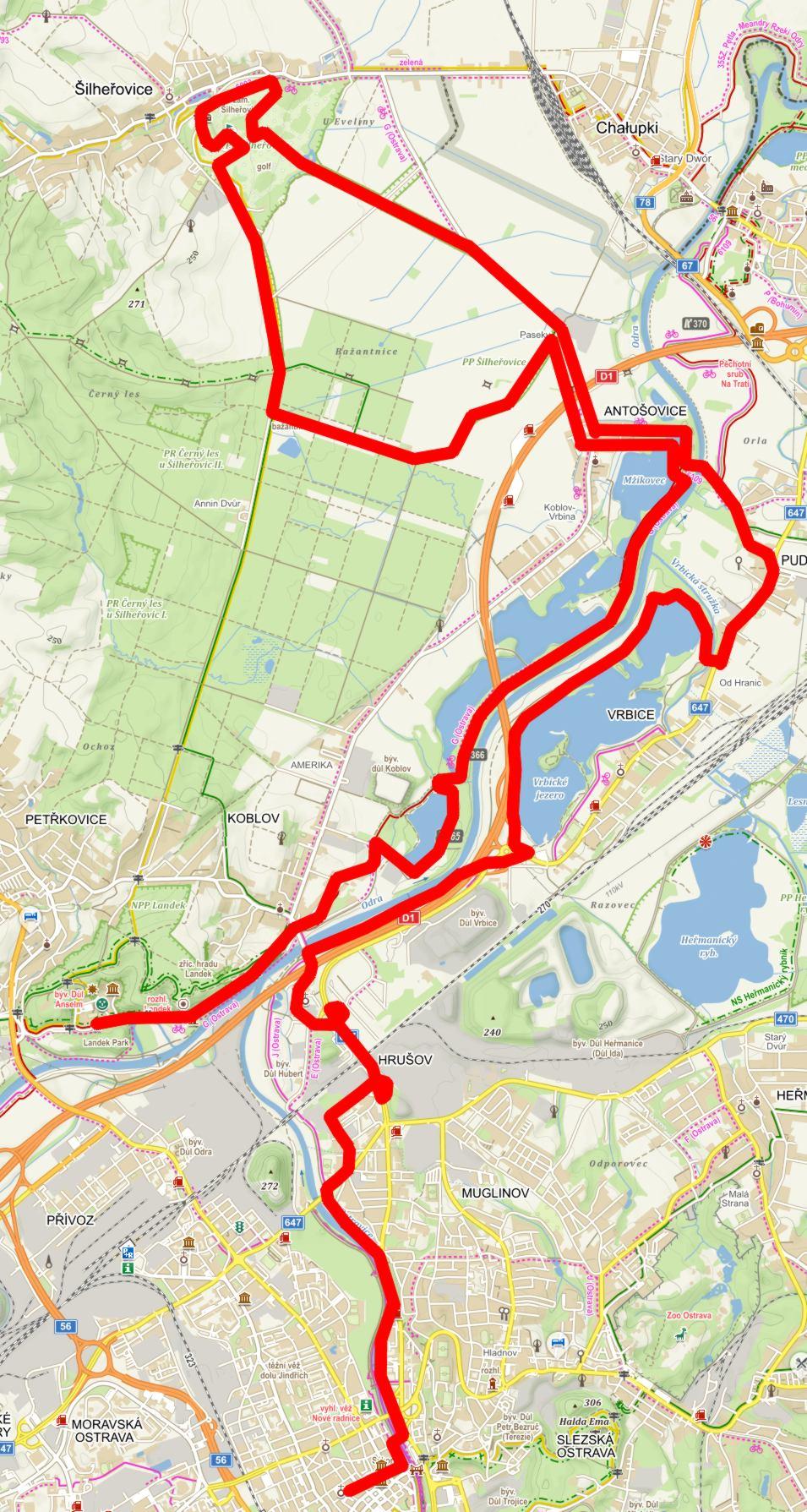 cyklovýlet_2014 Mapa